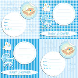 Newborn boy baby shower Royalty Free Stock Images