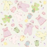 Set for newly born baby.For little girl. Stock Image