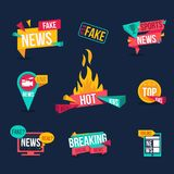 Set of news banners. stock illustration