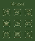 Set of news simple icons Stock Image