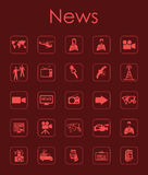 Set of news simple icons Royalty Free Stock Image