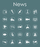 Set of news simple icons Stock Photography