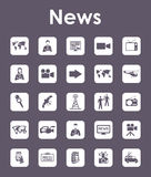 Set of news simple icons Stock Images