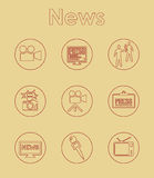 Set of news simple icons Royalty Free Stock Photo