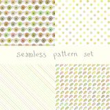 Set of nice child vector  patterns Stock Image