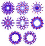 Set of nice colorful decorations  Stock Photography