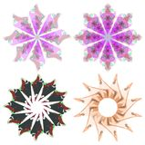 Set of nice colorful decorations isolated Stock Photo