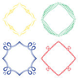 Set of nice decorative frames Royalty Free Stock Images