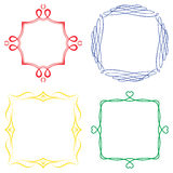 Set of nice decorative frames Royalty Free Stock Photos