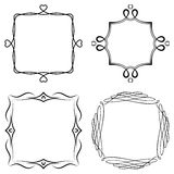Set of nice decorative frames Stock Image