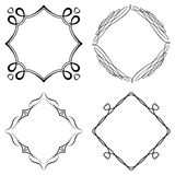 Set of nice decorative frames. With ornament. Vector Royalty Free Stock Image