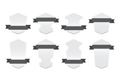 Set of Nice Different Banners with Ribbon - Isolated Vector Illustration Royalty Free Stock Photos