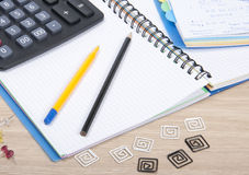 A set of nice office materials Royalty Free Stock Photo
