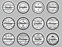 Set nice old-fashioned icon Stock Photography