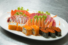Set of nice presentation sushi dish Stock Photo
