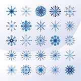 Set nieba błękit płatek śniegu royalty ilustracja