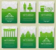 Set Niemcy kraju ornamentu ilustraci pojęcie Sztuka tradycyjna, plakatowy, książkowy, plakatowy, abstrakcjonistyczny, ottoman mot Obrazy Stock