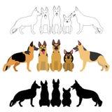 Set niemieckiej bacy grupa ilustracja wektor