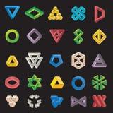 Set niemożliwi kształty Zdjęcie Stock