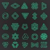 Set niemożliwi kształty Zdjęcie Royalty Free