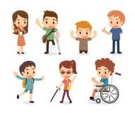 Set niepełnosprawni Zdjęcia Stock