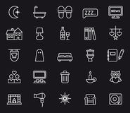 Set of night life icons Royalty Free Stock Images