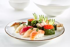 Exquisite Asian menu in the restaurant royalty free stock image