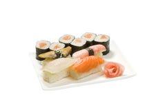 Set nigiri rolls Royalty Free Stock Images