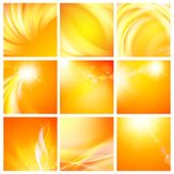 Set of nine abstract backgrounds. Stock Images