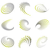 Motion symbol wave set Royalty Free Stock Photography