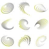 Motion symbol wave set royalty free illustration