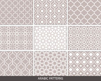 Set of nine Arabic patterns Royalty Free Stock Photography