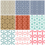 Set of nine Art abstract circle patterns Royalty Free Stock Photography