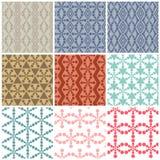 Set of nine Art abstract circle patterns Royalty Free Stock Photography