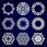 A set of nine Asian designs, medallions for design. Stock Photography