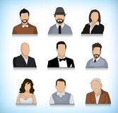 Set of nine avatars Stock Image