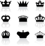 King crown icons Royalty Free Stock Image