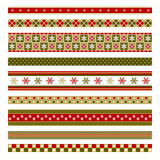 Set of nine christmas decorative elements Royalty Free Stock Photography