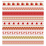 Set of nine christmas decorative elements Stock Photography