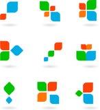 Set of nine colorful symbols -1 Stock Photo