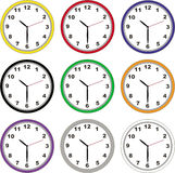 Wall clocks Stock Images
