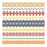 Set of nine ethnic decorative elements. Vector set of  nine ethnic decorative elements Stock Photo