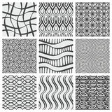 Set of nine geometrical patterns Stock Images