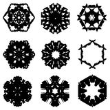 Set of nine hand draw elements for design. Royalty Free Stock Photography