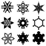 Set of nine hand draw elements for design. Royalty Free Stock Photos