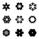 Set of nine hand draw elements for design. Royalty Free Stock Photo