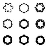 Set of nine hand draw elements for design. Stock Images
