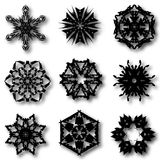 Set of nine hand draw elements for design. Royalty Free Stock Image