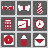 Set of nine icons Stock Images
