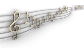 Set of nine musical notes Stock Images